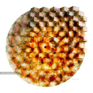 Brick Pattern Blend :: Non-objective experimental geometric abstract photography - Artwork © Michel Godts