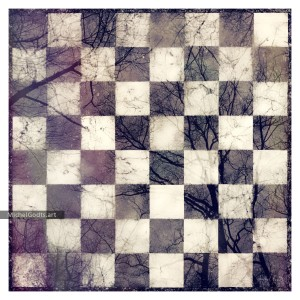 Checkerboard Reflection :: Abstract photo illustration - Artwork © Michel Godts