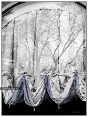 The Curtain's Vision :: Urban Photography Wall Art Print - Artwork © Michel Godts