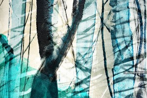 Forest At First Light :: Abstract landscape photo illustration - Artwork © Michel Godts