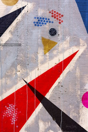 Geometric Mural Composition :: Street art abstract photography - Artwork © Michel Godts