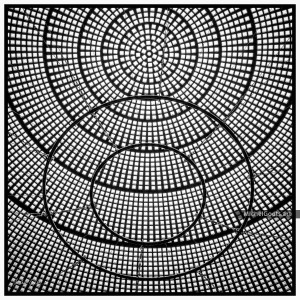 Glass Dome Pattern :: Black and white abstract realism photography - Artwork © Michel Godts