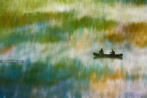 Marsh Fishing Abstract :: Abstract impressionism photo-based digital art - Artwork © Michel Godts