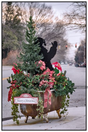 Merry Christmas Bellefonte! :: Urban street photography print - Artwork © Michel Godts