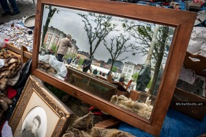 Mirror at Flea Market :: Urban street photography - Artwork © Michel Godts