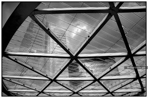 Place Rogier Canopy Skylight :: Black and white architecture photography - Artwork © Michel Godts