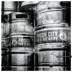 Prison City Beer Barrels :: Black and white still life & grunge photography - Artwork © Michel Godts