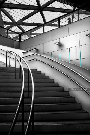Rogier Station Stairway :: Architecture photography - Artwork © Michel Godts