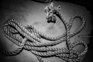 Rope Over Canvas :: Black and white still life photography - Artwork © Michel Godts