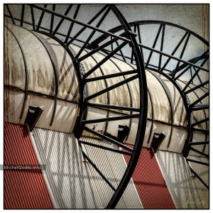 Stadium Roof Abstract :: Texture blend architecture photography - Artwork © Michel Godts