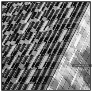 The One Brussels Building :: Black and white architecture photography - Artwork © Michel Godts