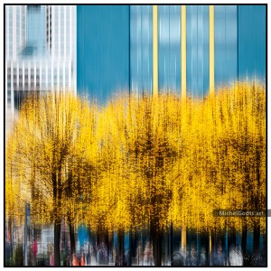 Urban Gold And Blue Impression :: Abstract urban photography - Artwork © Michel Godts