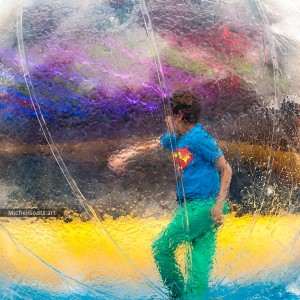 Walking In A Bubble :: Urban Photography Wall Art Print - Artwork © Michel Godts