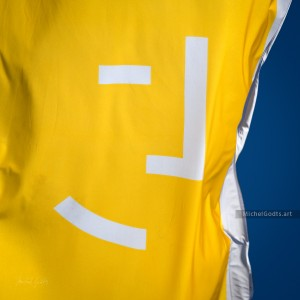 Yellow Flag Profile :: Abstract realism photography - Artwork © Michel Godts
