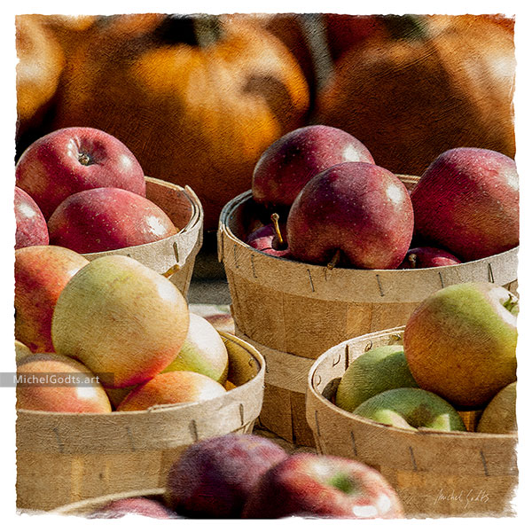 Apples In Baskets :: Still life fruits photography - Artwork © Michel Godts