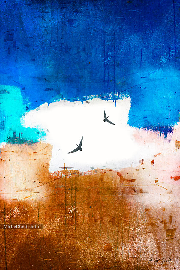 Between Earth And Sky :: Abstract photo illustration - Artwork © Michel Godts