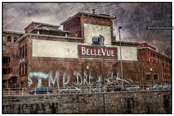 Brasserie Belle-Vue :: Industrial decay texture blend photography - Artwork © Michel Godts
