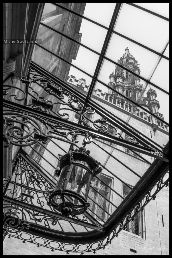 Brussels Town Hall :: Black and White Architecture Photography Wall Art Print - Artwork © Michel Godts