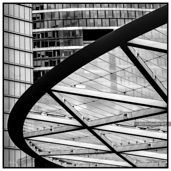 Canopy Composition :: Black and white architecture photography - Artwork © Michel Godts