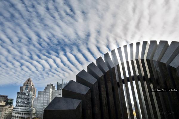 Cloudmaker :: Urban photography of public art—wall art print - Artwork © Michel Godts
