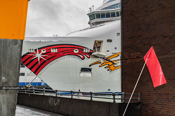 Cruise Ship At Terminal :: Urban Street Photography Wall Art Print - Artwork © Michel Godts