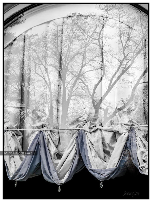 The Curtain's Vision :: Urban Photography Wall Art Print - Artwork © Michel Godts