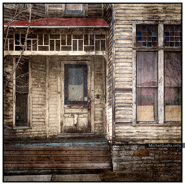 Decayed Store In Fonda :: Urban texture blend photography - Artwork © Michel Godts