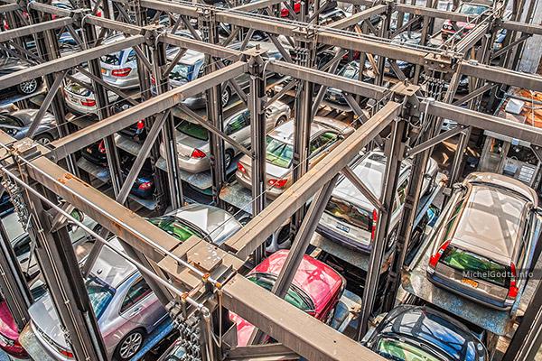 Elevator Parking :: Urban street photography - Artwork © Michel Godts