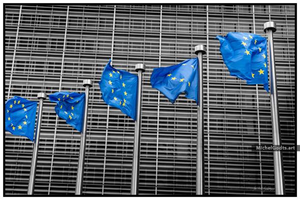 European Unity :: Selective coloring urban photography  - Artwork © Michel Godts