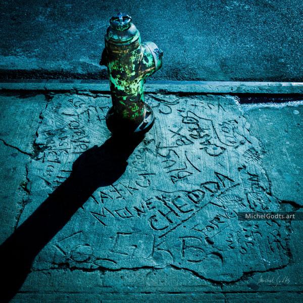 Fire Hydrant For Chedda :: Urban street photography - Artwork © Michel Godts