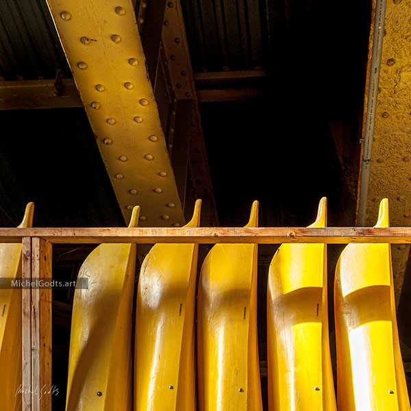 Kayak Storage :: Abstract Realism Photography Wall Art Print - Artwork © Michel Godts