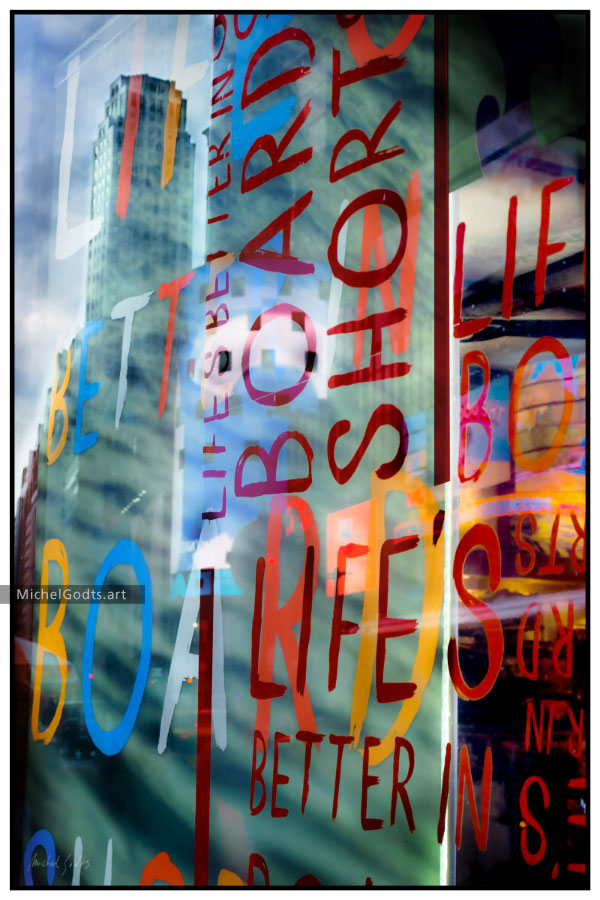 Life's Better In Board Shorts :: Urban typography photography - Artwork © Michel Godts