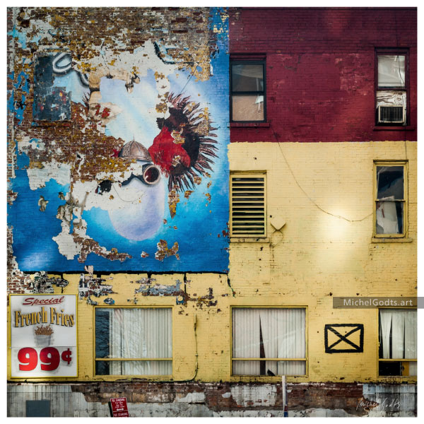 Mural Art At 9th and W42 :: Urban decay photography - Artwork © Michel Godts