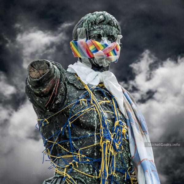 Muted Caesar :: Photography of public art - Artwork © Michel Godts