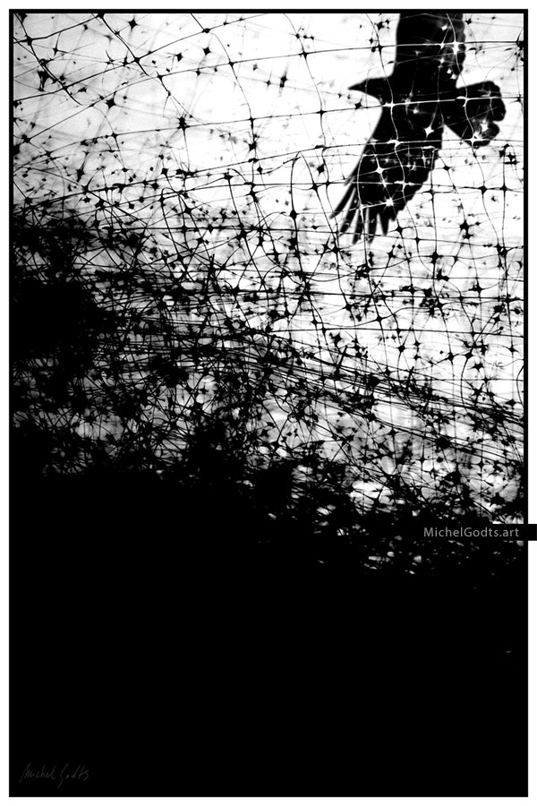 No Escape :: Black and white photo illustration art - Artwork © Michel Godts