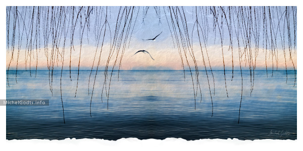Winter's Arrival Over Lake Ontario :: Lakescape texture blend photography - Artwork © Michel Godts