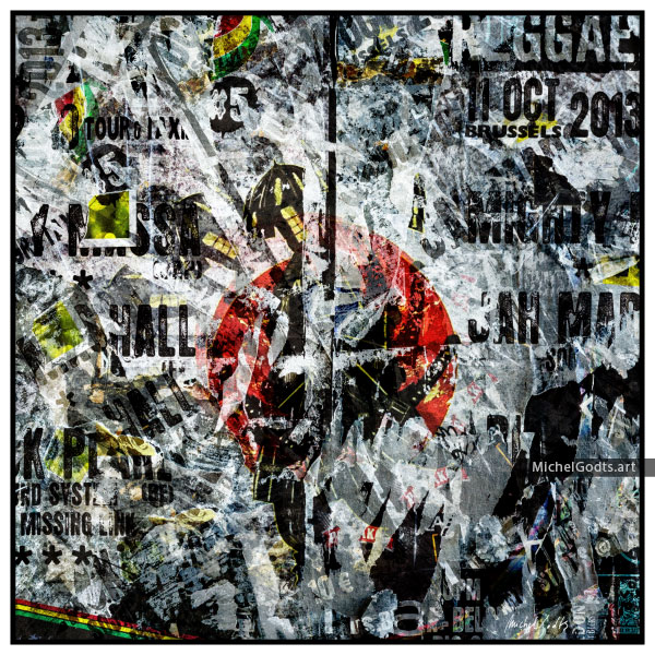 Reggae Rips :: Non-objective experimental abstract photography - Artwork © Michel Godts