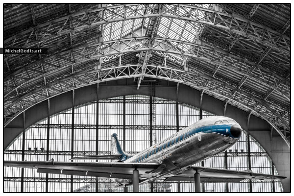 Vintage Sabena Caravelle :: Airplane photography - Artwork © Michel Godts