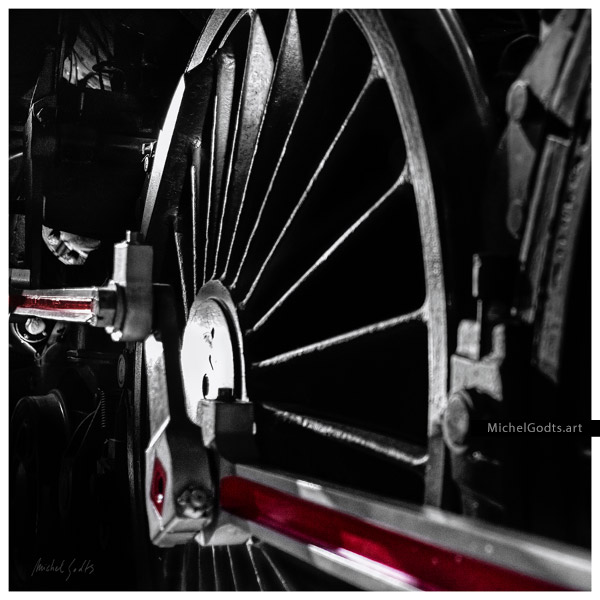 Steam Train Wheel Abstract :: Abstract realism photography - Artwork © Michel Godts