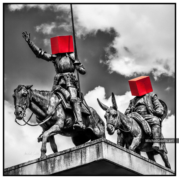 Urban Disorders—Don Quixote :: Photography of public art—wall art print - Artwork © Michel Godts