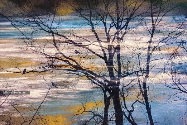 Winter Dawn Over Brandywine Creek :: Landscape photo illustration - Artwork © Michel Godts
