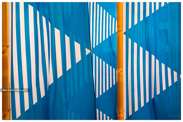 Yellow, Blue & Stripes :: Abstract realism photography - Artwork © Michel Godts
